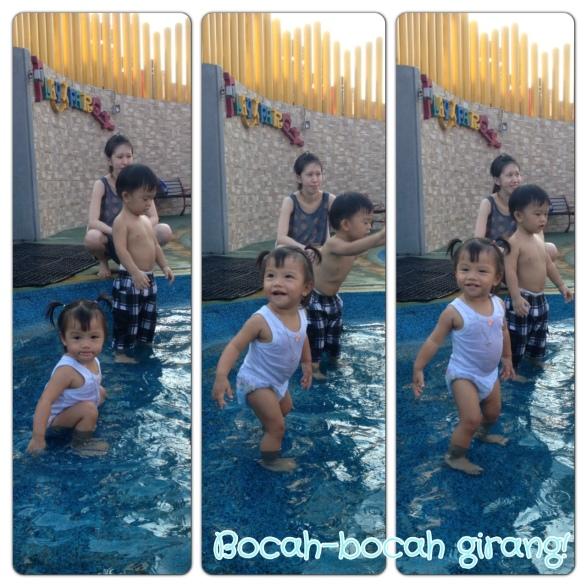 Triya berenang
