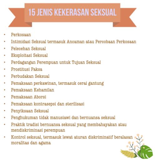 15 Jenis Kekerasan Seksual